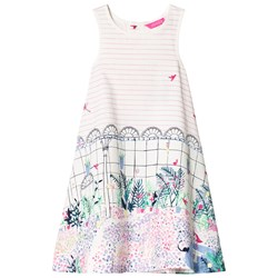 Tom Joule Pink Stripe and Garden Print Dress