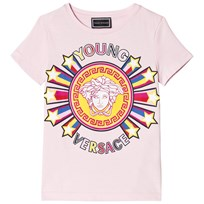 Young Versace Pink Star Medusa Print Branded Tee Y4054