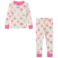 Hatley Ice Cream Treats Pyjamas Set Vit och Rosa Cream