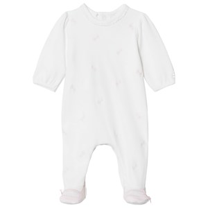 Image of Emile et Rose Mara Pink Bow Footed Baby Body 6 months (2929403895)