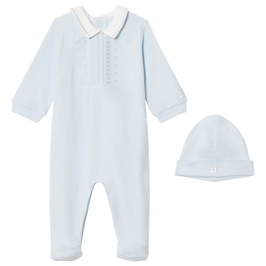 Emile et Rose Blue Malcolm Footed Baby Body Set Pale Blue