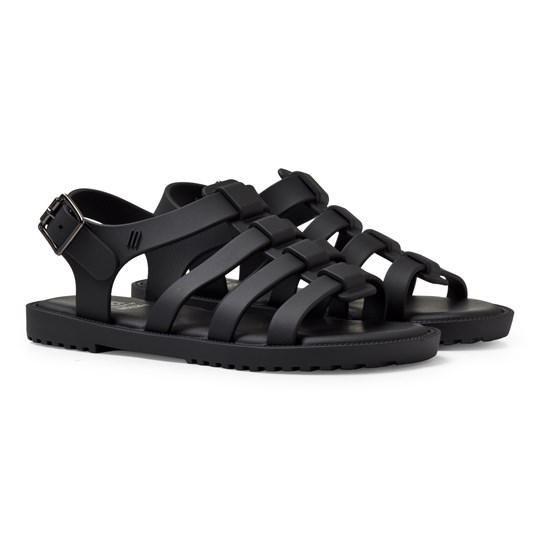 Mini Melissa Black Strappy Sandals Black