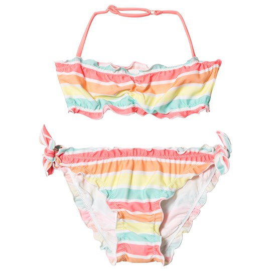 Sunuva Sorbet Stripe Girls Ruched Bikini MULTI STRIPE