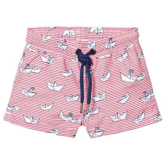 Sunuva Red Baby Boy Paper Boat Swim Shorts Rød