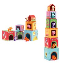 Djeco Topanifarm Stacking Blocks Yellow
