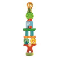 Djeco Stacky Jungle Stacking Blocks Green