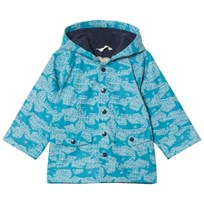 Hatley Shark Alley Classic Baby Raincoat Blue Blue