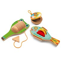 Djeco Set of 3 Wooden Instruments Green