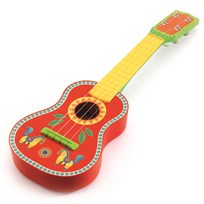 Djeco Wooden ukulele Red