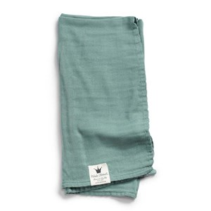 Image of Elodie Bamboo Muslin Blanket - Mineral Green One Size (1019650)