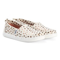 Toms Rose Gold Dots Youth Classics ROSE GOLD DOT