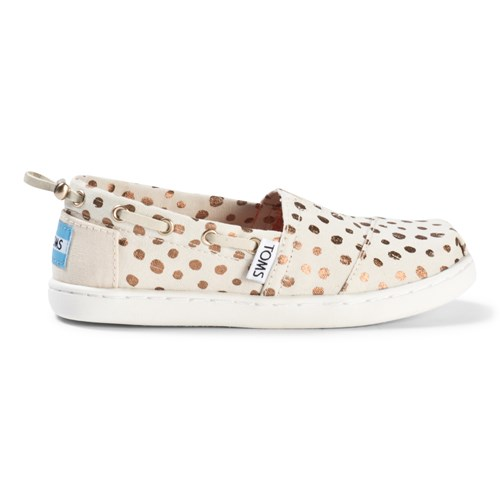 Toms - Rose Gold Dots Youth Classics