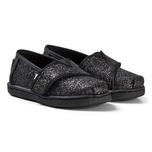 Image of Toms Black Iridescent Glitter Tiny TOMS Classics 21 (UK 4) (3125349111)