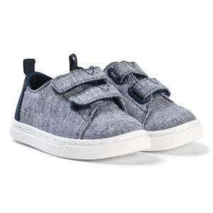 Image of Toms Navy Slub Chambray Tiny TOMS Lenny Sneakers 22 (UK 5) (3125334165)