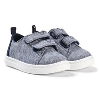 Toms Navy Slub Chanbray Tiny TOMS Lenny Sneakers NAVY SLUB CHAMBRAY