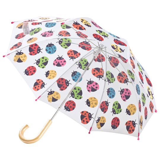 Hatley Rainbow Ladybirds Umbrella White White
