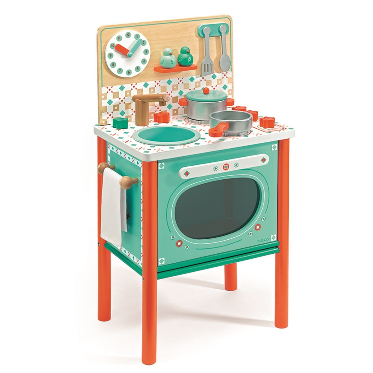 Djeco - Leo's Cooker Play Kitchen - Babyshop.com