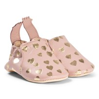 Easy Peasy Pink Heart Blumoo Crib Shoes 531