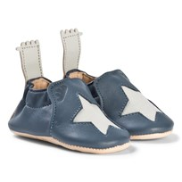 Easy Peasy Navy Star Blumoo Crib Shoes 526