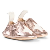 Easy Peasy Metallic Pink Star Blumoo Crib Shoes 432