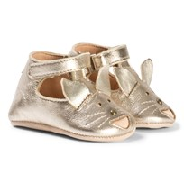 Easy Peasy Gold Loulou Fox Velcro T Bar Crib Shoes 347