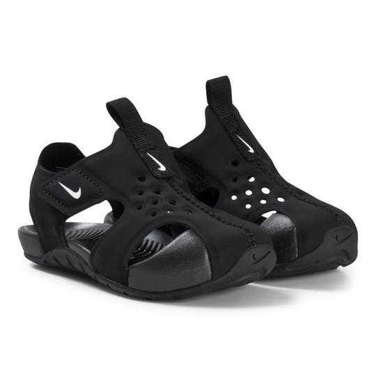 NIKE Black and White Nike Sunray Protect Toddler Sandal 001