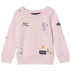 Ralph Lauren Pink Embroidered Icons Sweatshirt