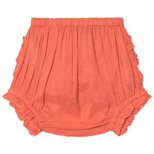 Image of Velveteen Coral Frill Cecily Bloomers 12 months (2931855799)