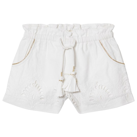 Velveteen White Lace and Embroidered Brooke Shorts WCT