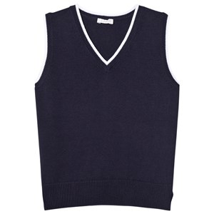 Image of Il Gufo Navy Knit Vest 2 years (2931858127)