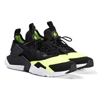 NIKE Black and White Volt Nike Huarache Run Drift Shoes 700