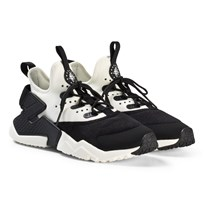 NIKE Black and White Nike Huarache Run Drift Shoes 002