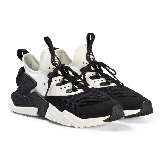 4afda65d9bb NIKE - Black and White Nike Huarache Run Drift Shoes - Babyshop.com