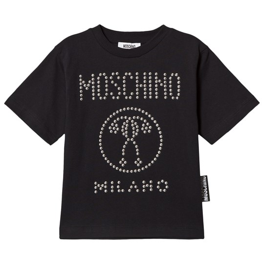 Moschino Kid-Teen Studded Logo T-shirt Svart 60100
