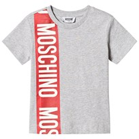 Moschino Kid-Teen Branded Stripe T-shirt Grå 60901