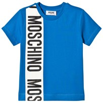 Moschino Kid-Teen Branded Stripe T-shirt Blå 40203