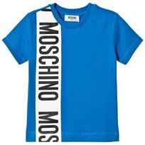 Moschino Kid-Teen Blue Branded Stripe Tee 40203