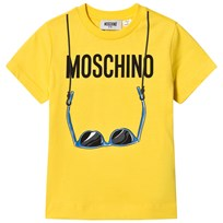 Moschino Kid-Teen Yellow Branded Sunglasses Print Tee 50618
