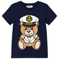 Moschino Kid-Teen Navy Sailor Bear Print Branded Tee 40016