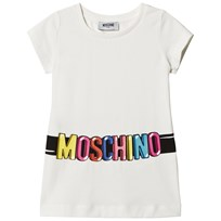 Moschino Kid-Teen White Logo Belt Print Tunic 10063