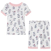 Hatley Free Birds Short Pajama Set White White