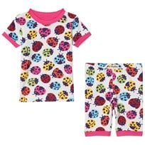 Hatley Rainbow Ladybirds Pajama Set White White