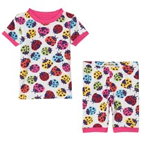 Hatley Rainbow Ladybirds Pyjamas Set Vit White