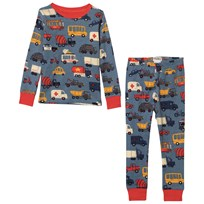 Hatley Rush Hour Pyjamas Set Blå Blue