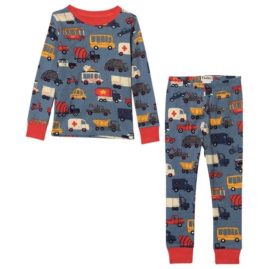 Hatley Rush Hour Pajama Set Blue Blue