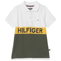 Tommy Hilfiger Cream and Khaki Branded Polo 123
