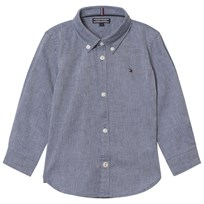 Tommy Hilfiger Blue Stretch Oxford Shirt 406