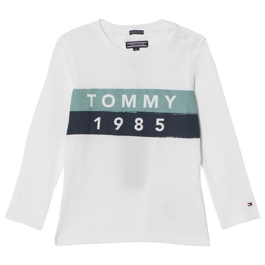 6e01d9ce7 Tommy Hilfiger - White and Blue Branded Long Sleeve Tee - Babyshop.com