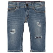 Tommy Hilfiger Blue Lana Cropped Patch Jeans 911