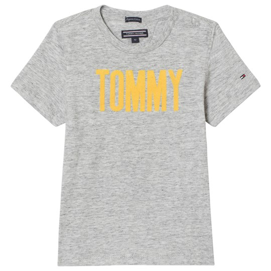 Tommy Hilfiger Grey and Yellow Branded Tee 054